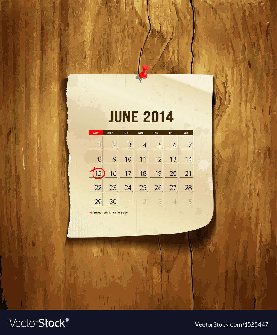 Calendar june 2014 vector | Price: 1 Credit (USD $1)