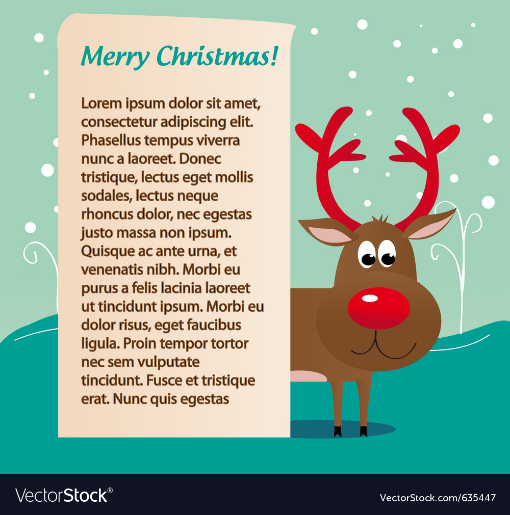 Christmas deer rudolf vector | Price: 1 Credit (USD $1)