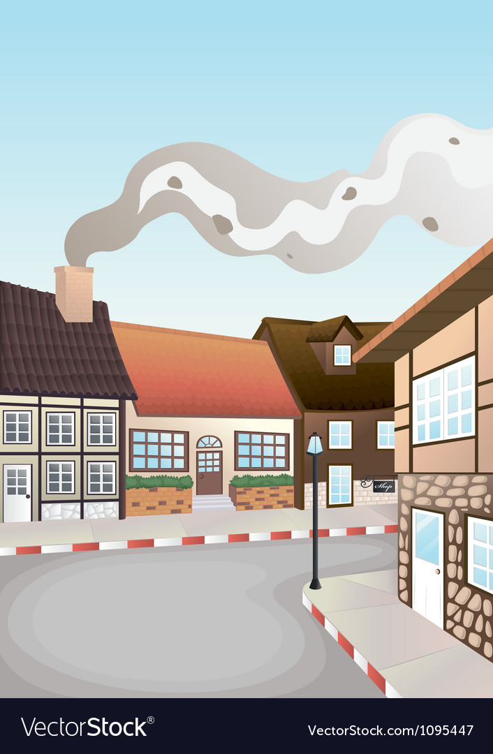 Colony of houses vector | Price: 1 Credit (USD $1)