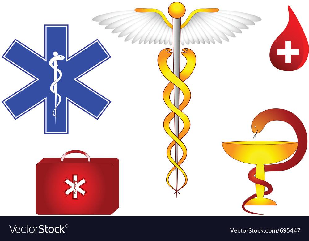 Medical symbol set vector | Price: 1 Credit (USD $1)