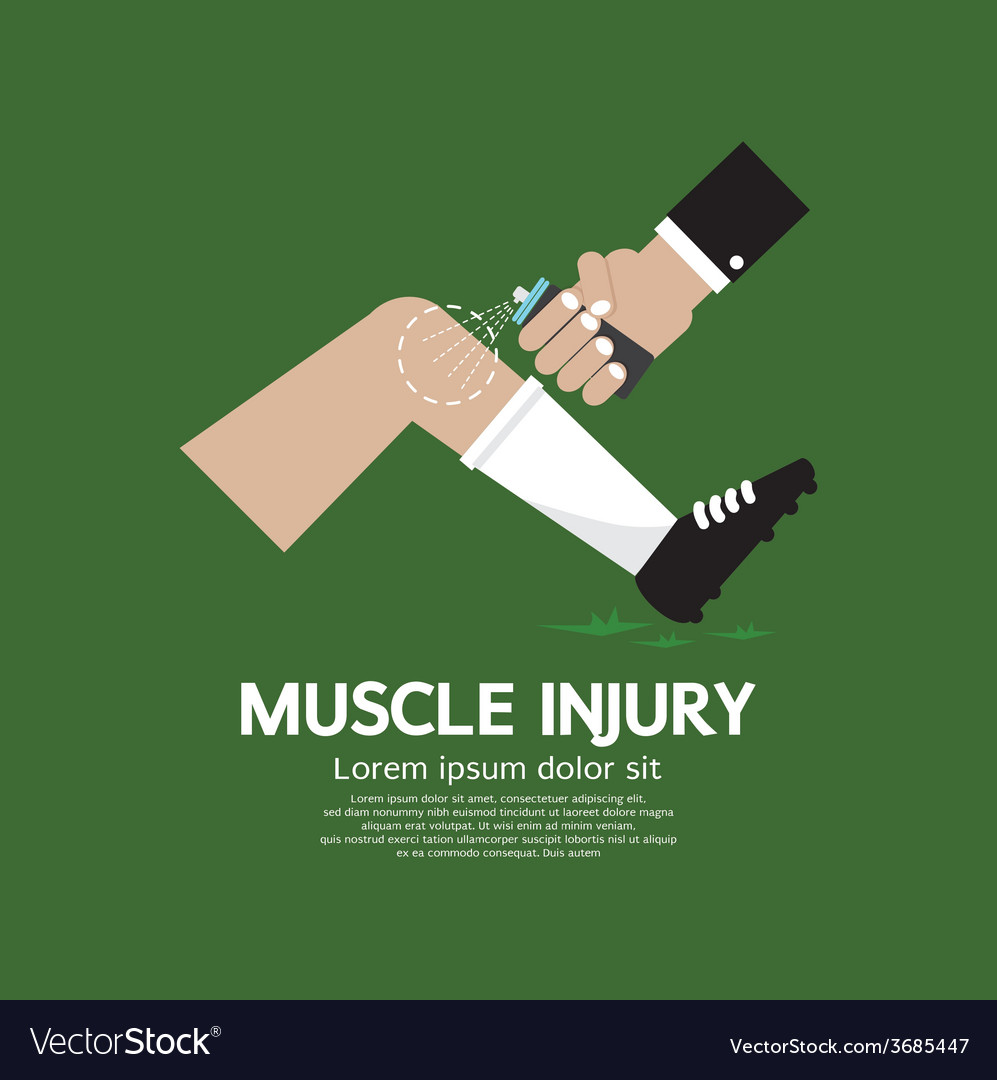 Muscle injury with spray healing vector | Price: 1 Credit (USD $1)