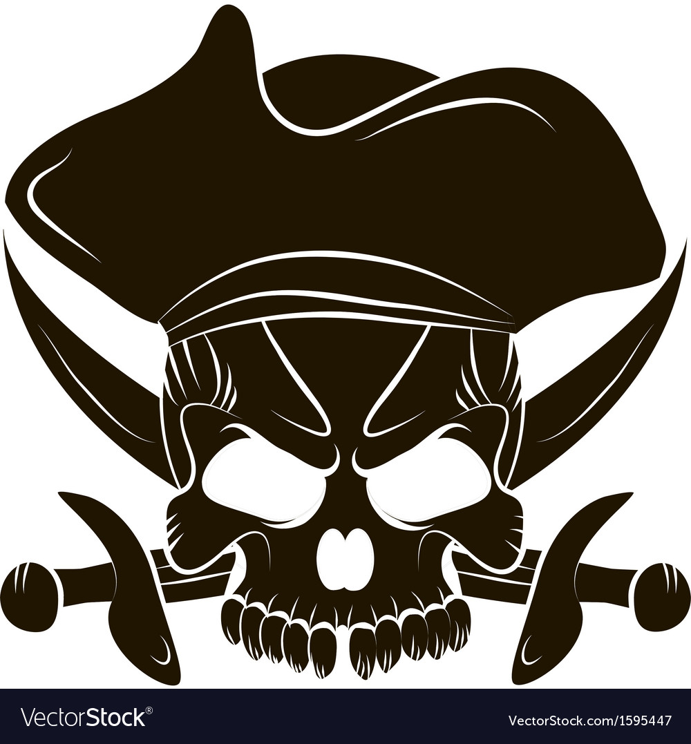 Pirate skull and swords vector | Price: 1 Credit (USD $1)