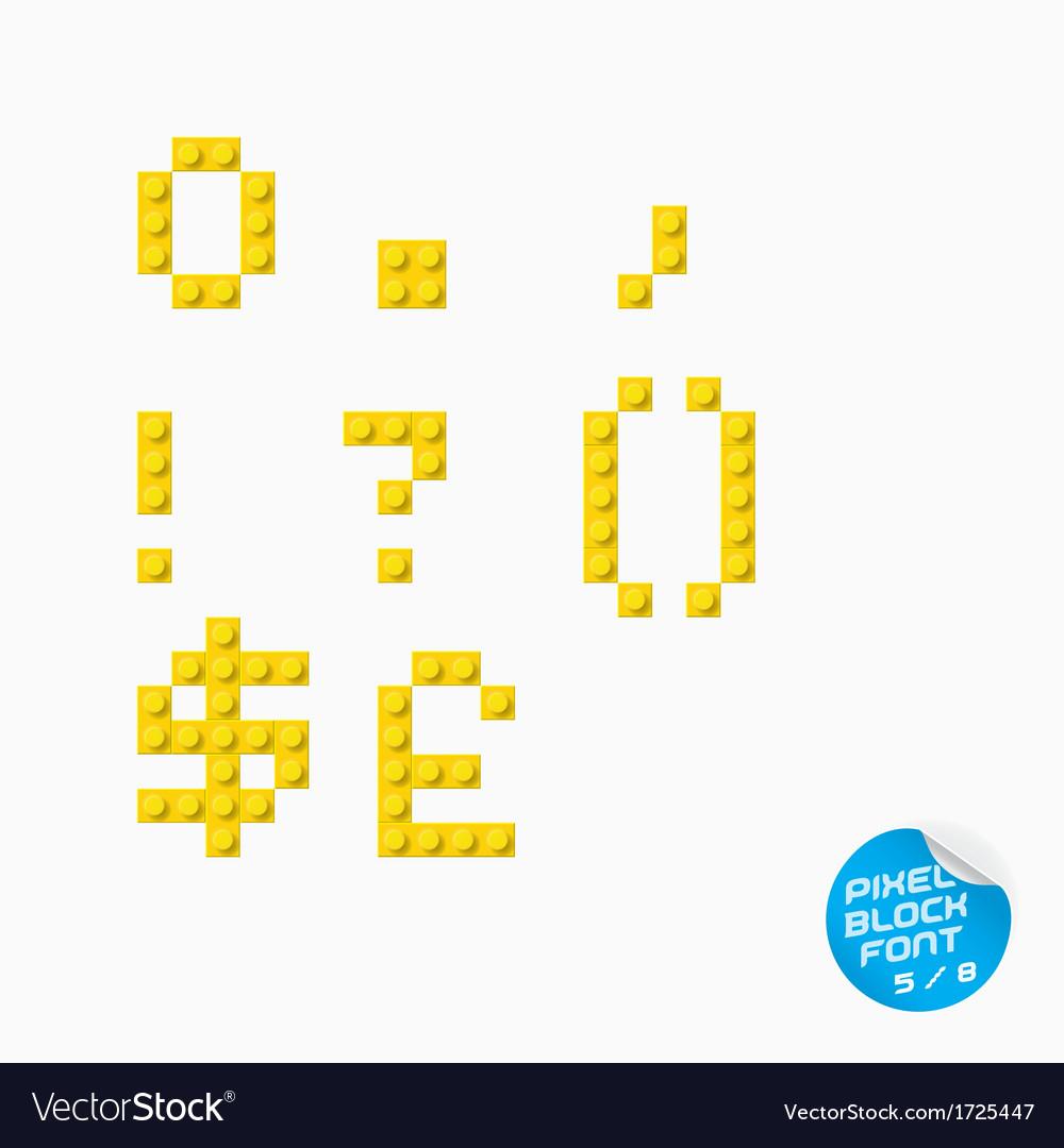 Pixel block alphabet vector | Price: 1 Credit (USD $1)