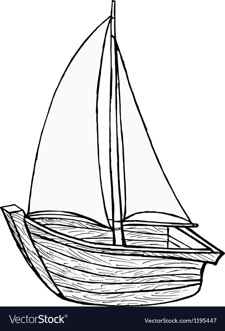 Sailboat toy vector | Price: 1 Credit (USD $1)