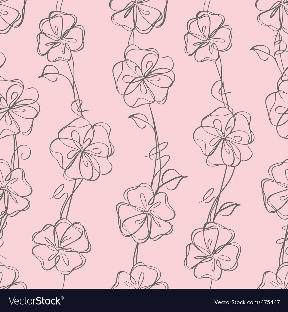 Ss floral white vector background vector | Price: 1 Credit (USD $1)