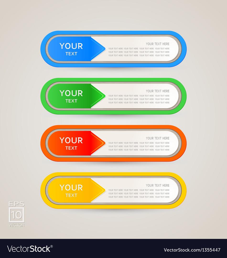 Sticker label color set vector | Price: 1 Credit (USD $1)