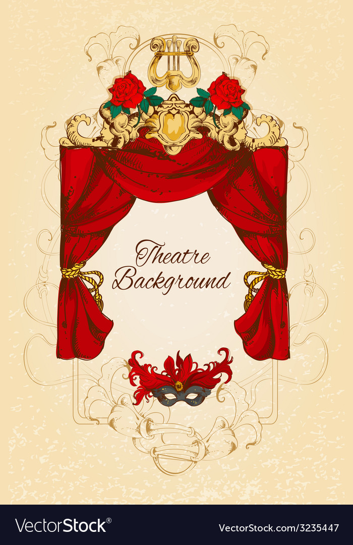 Theatre sketch background vector | Price: 1 Credit (USD $1)