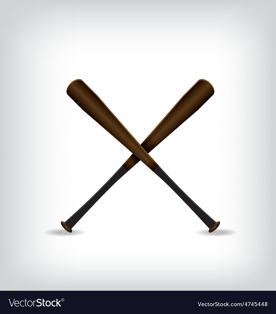 Baseball bat vector | Price: 1 Credit (USD $1)