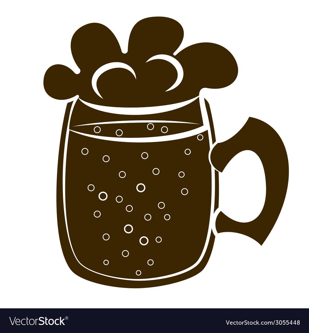 Beer mug silhouette vector | Price: 1 Credit (USD $1)