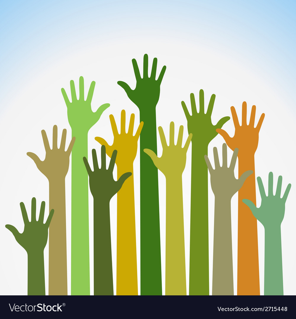 Colorful up hands for your design vector | Price: 1 Credit (USD $1)