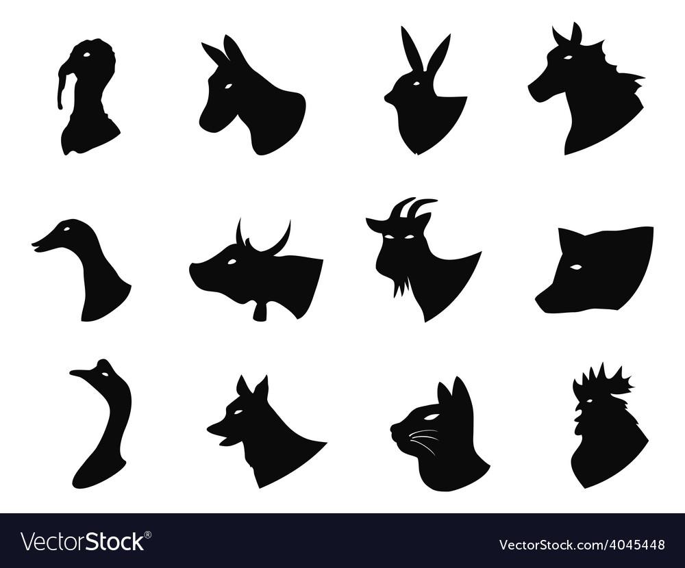 Farm animals icons set vector   Price: 1 Credit (USD $1)