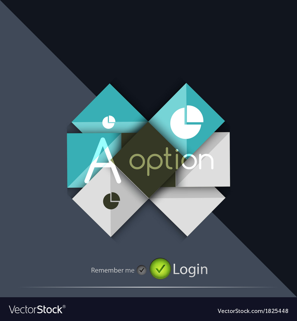 Glossy ribbon option buttons banners design vector | Price: 1 Credit (USD $1)