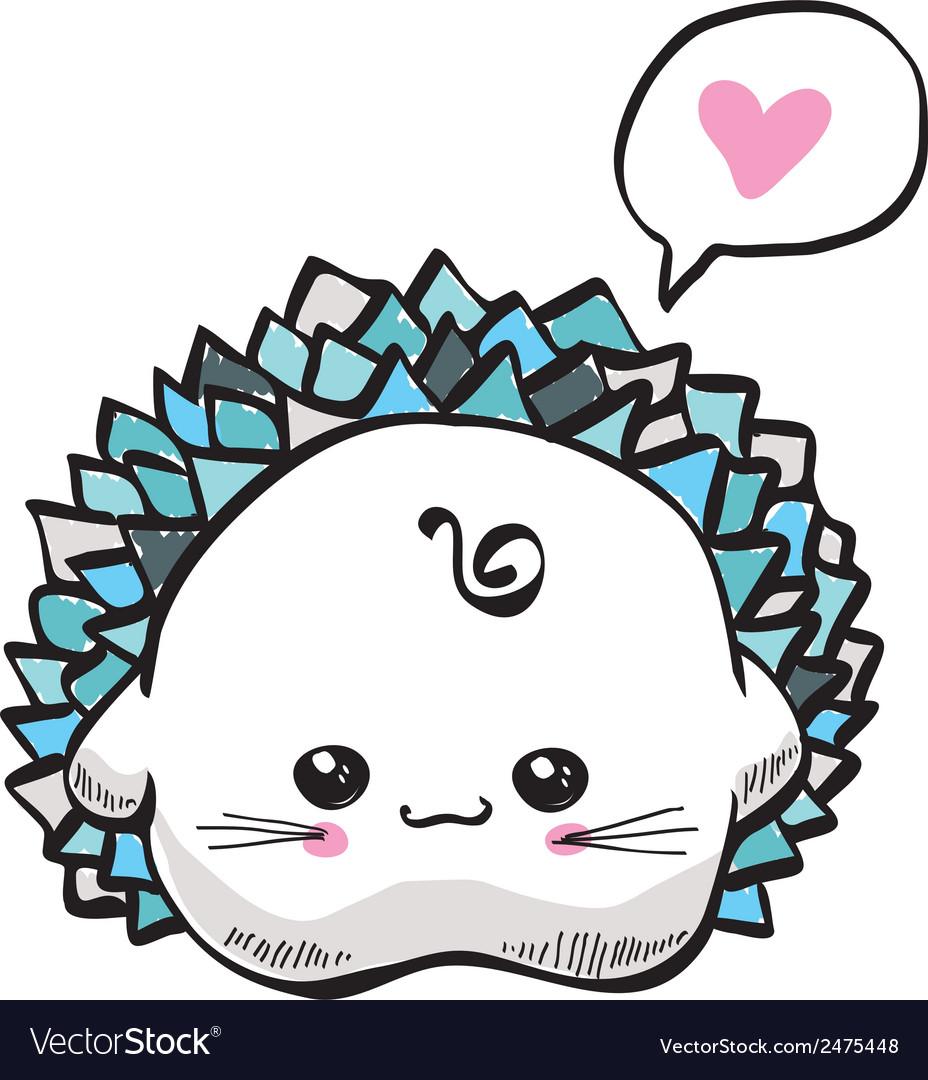 Kawaii cute hedgehog vector   Price: 1 Credit (USD $1)