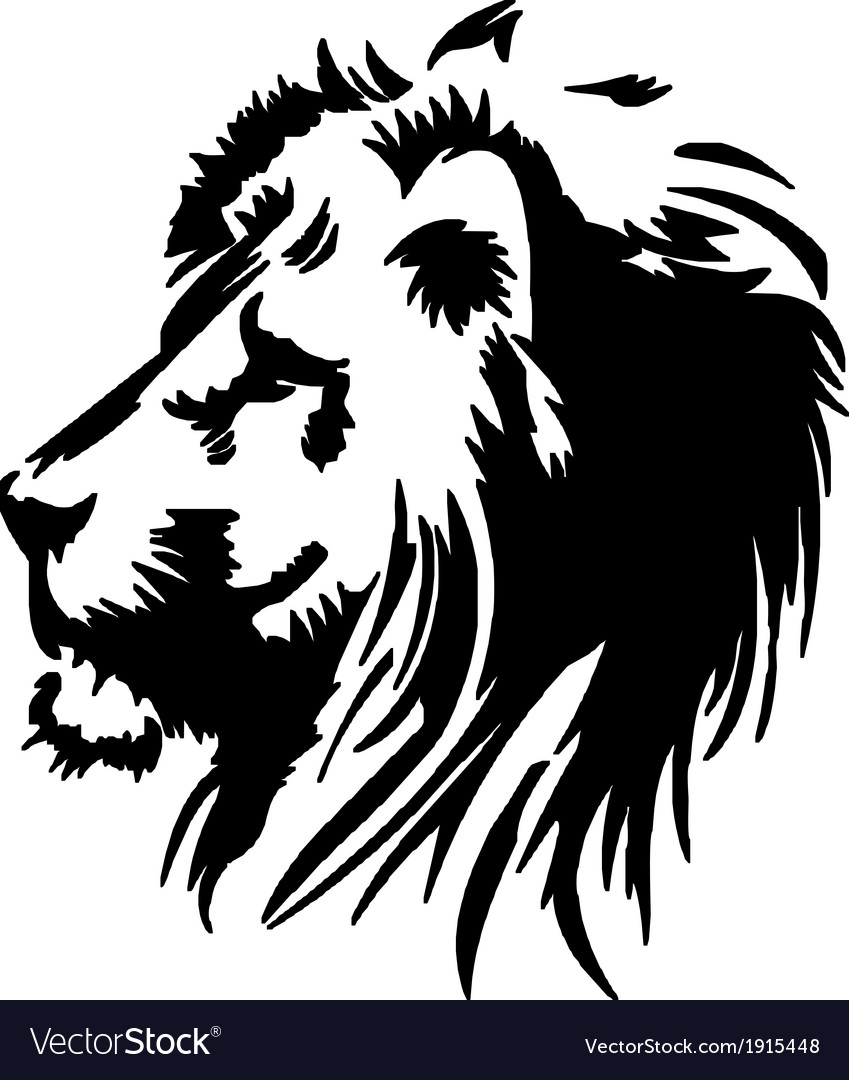 Lion head stencil vector | Price: 1 Credit (USD $1)