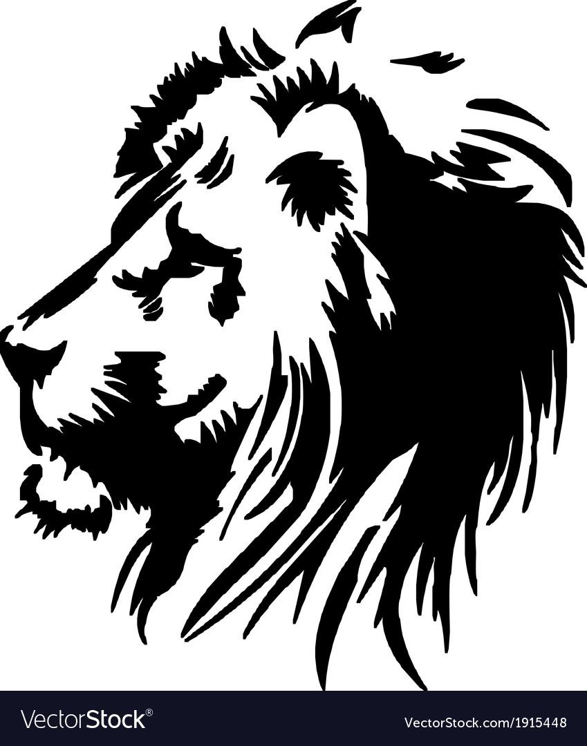 Lion head stencil vector | Price: 1 Credit (USD $1)