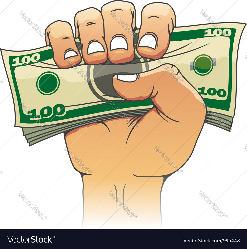 Money in people hand vector | Price: 3 Credit (USD $3)
