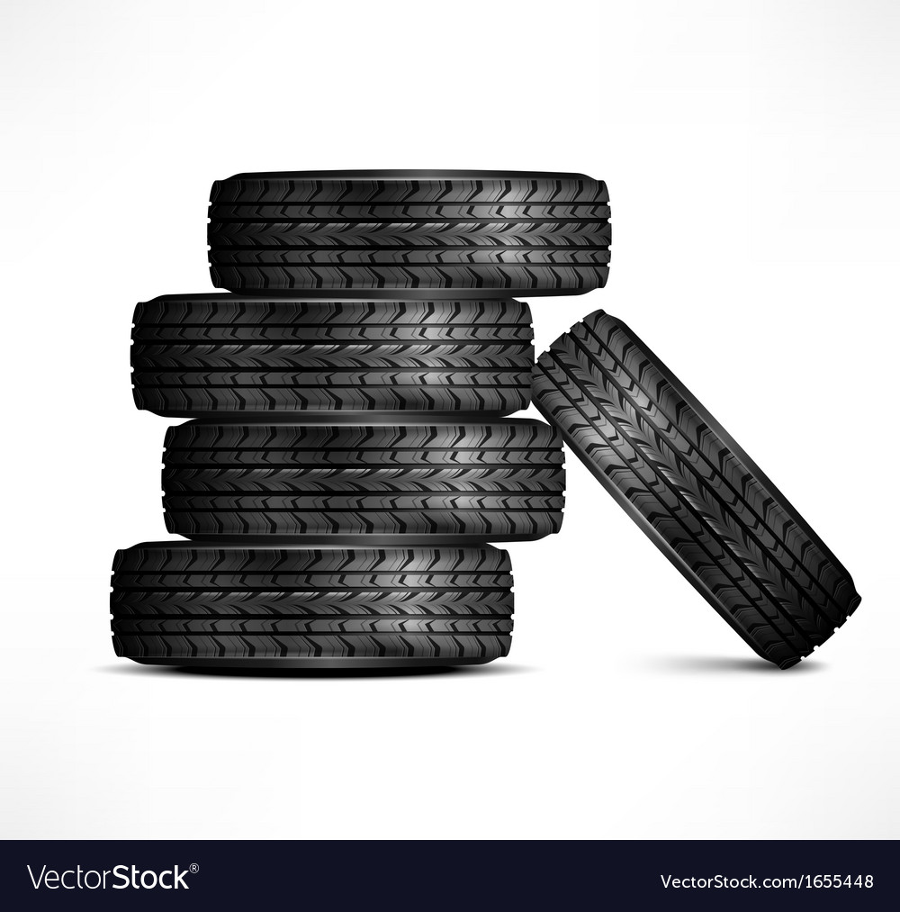 Rubber tires vector | Price: 1 Credit (USD $1)