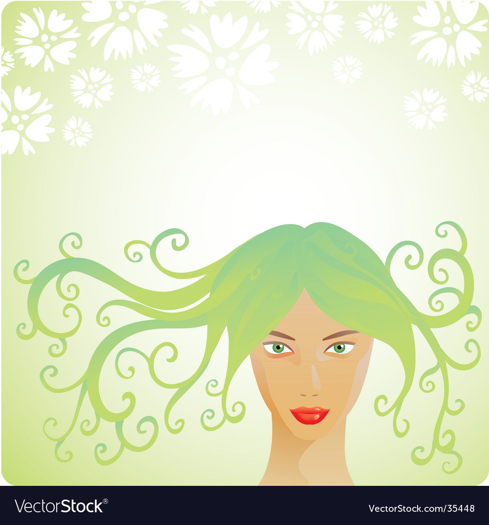 Spring woman vector | Price: 1 Credit (USD $1)