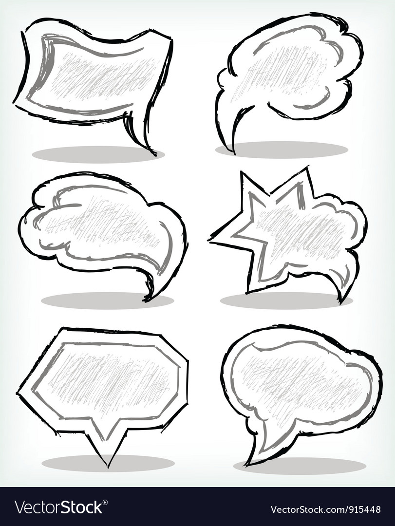 Various grey dialog vector | Price: 1 Credit (USD $1)