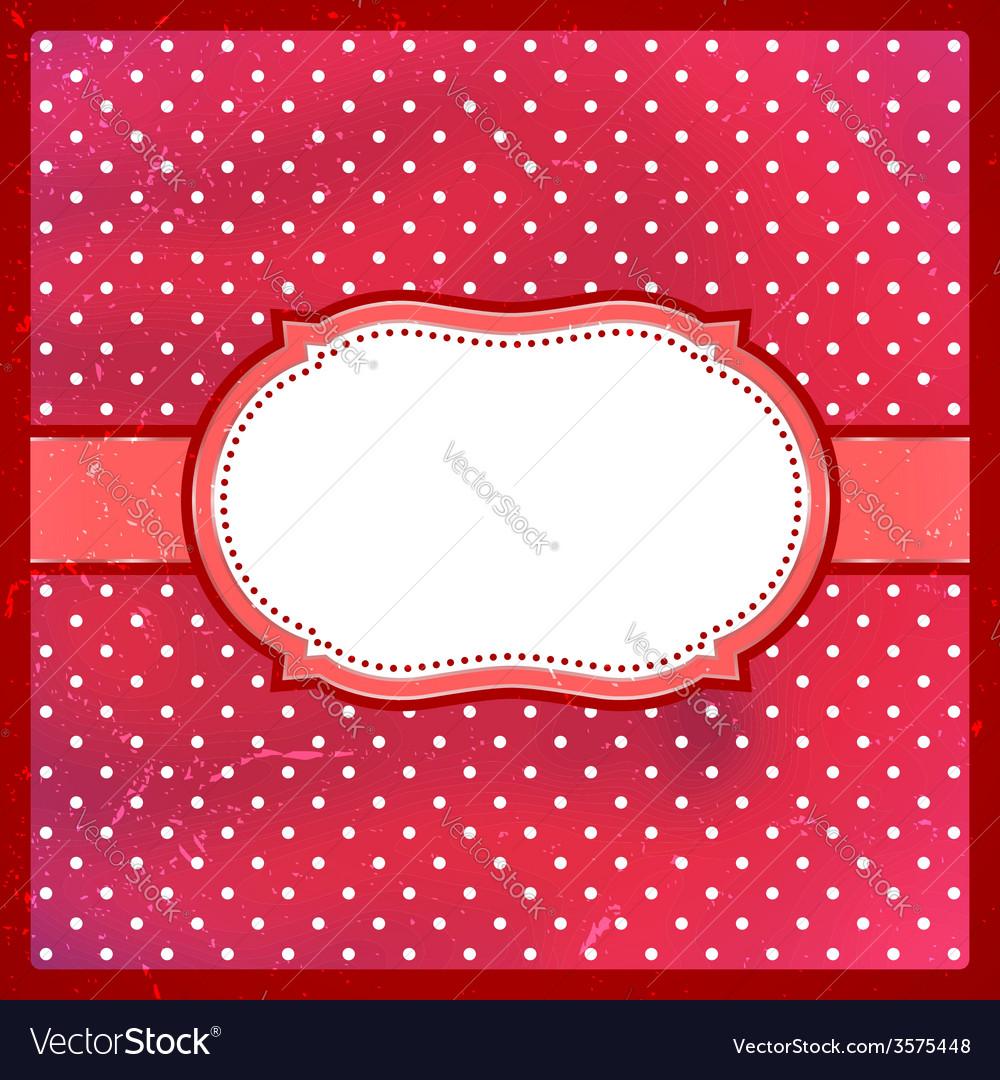 Vintage polka dot frame vector | Price: 1 Credit (USD $1)