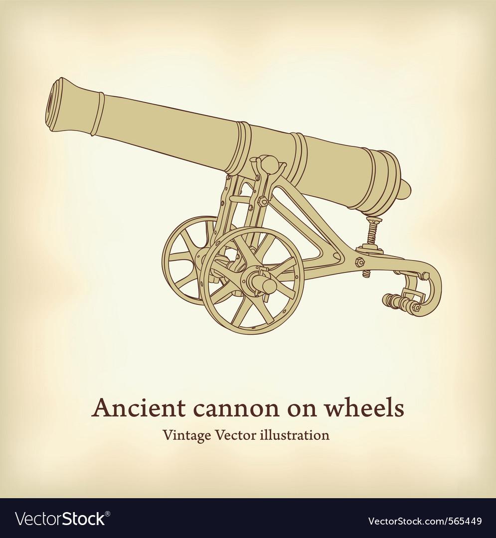 Antique cannon vector | Price: 1 Credit (USD $1)