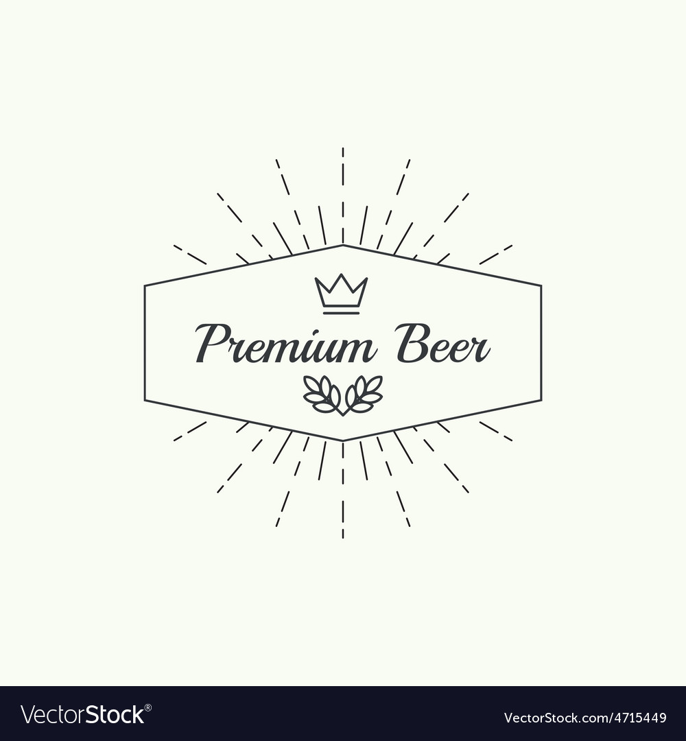 Beer brewery emblems vector | Price: 1 Credit (USD $1)