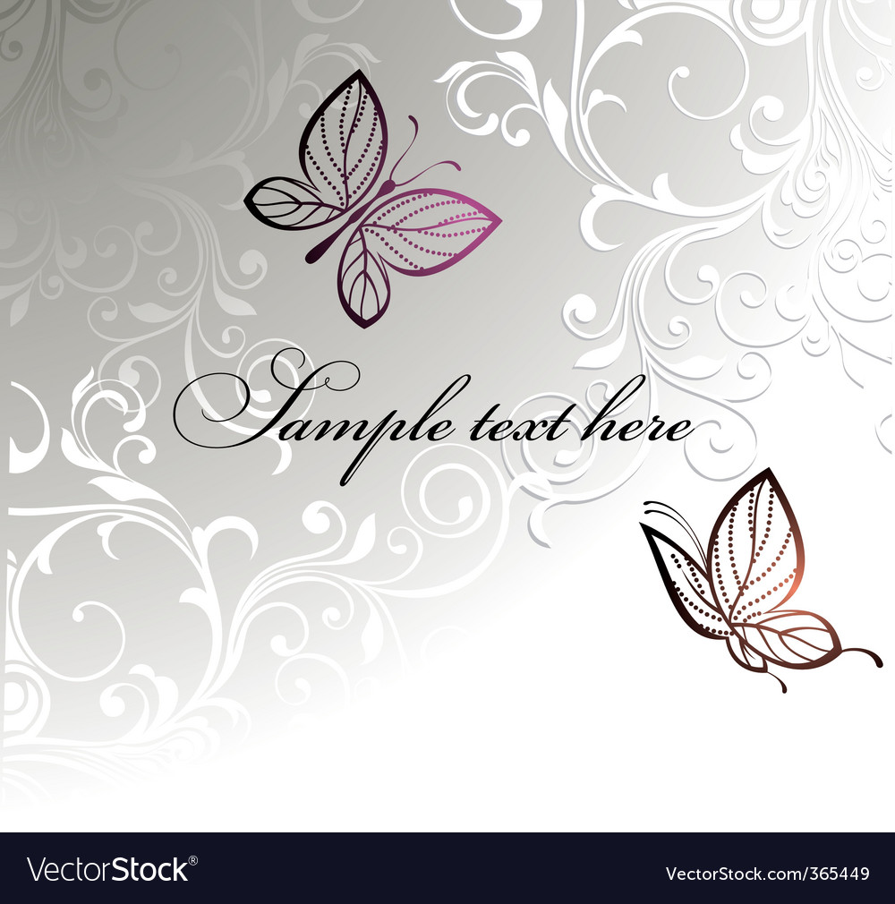 Butterfly card design vector | Price: 1 Credit (USD $1)