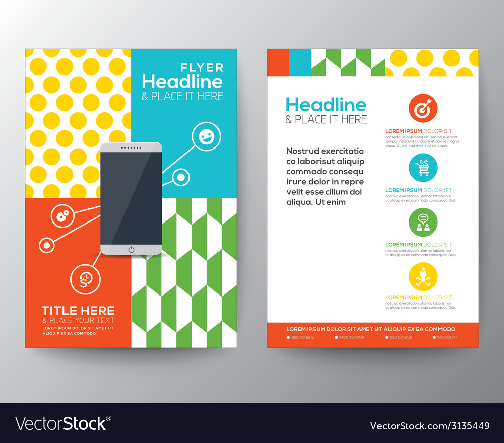 Graphic design layout with smart phone concept vector   Price: 1 Credit (USD $1)
