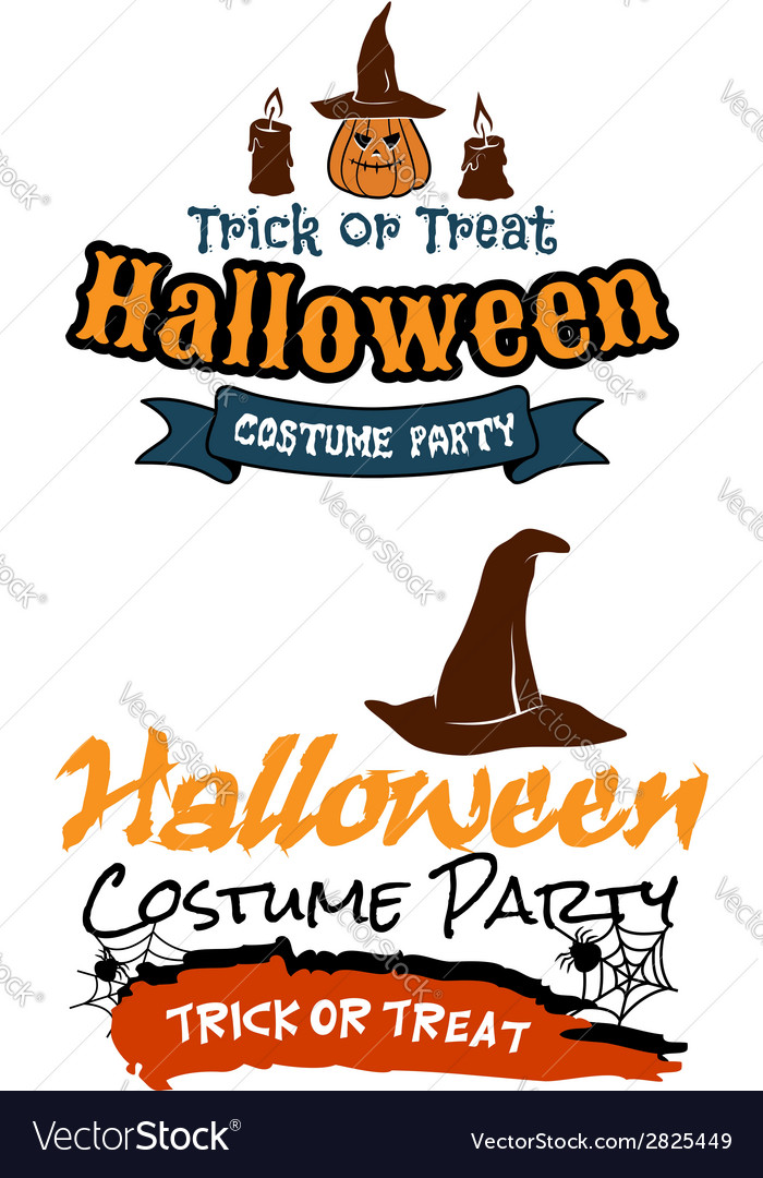 Halloween holiday party banners vector | Price: 1 Credit (USD $1)