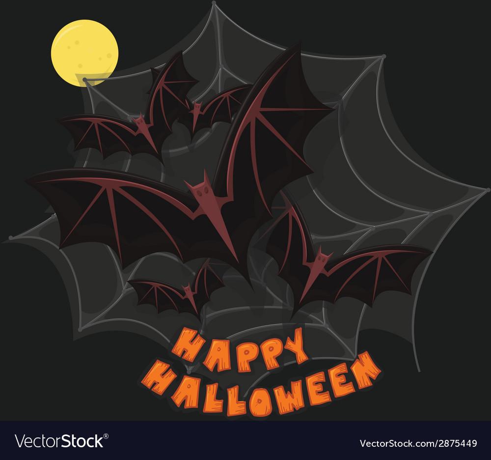 Happy halloween poster vector | Price: 1 Credit (USD $1)