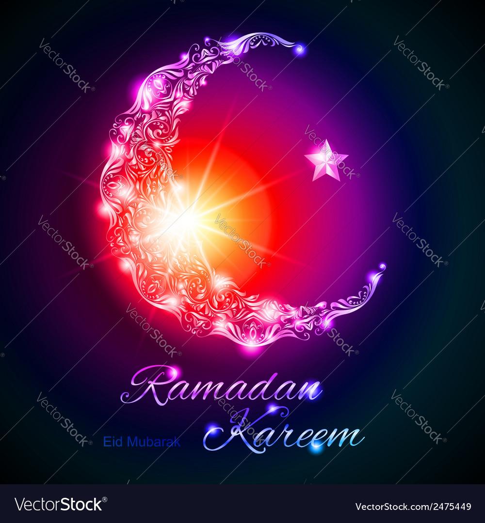 Ramadan kareem greeting card vector | Price: 1 Credit (USD $1)