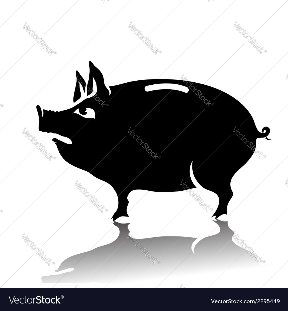 Silhouette of piggy bank vector | Price: 1 Credit (USD $1)