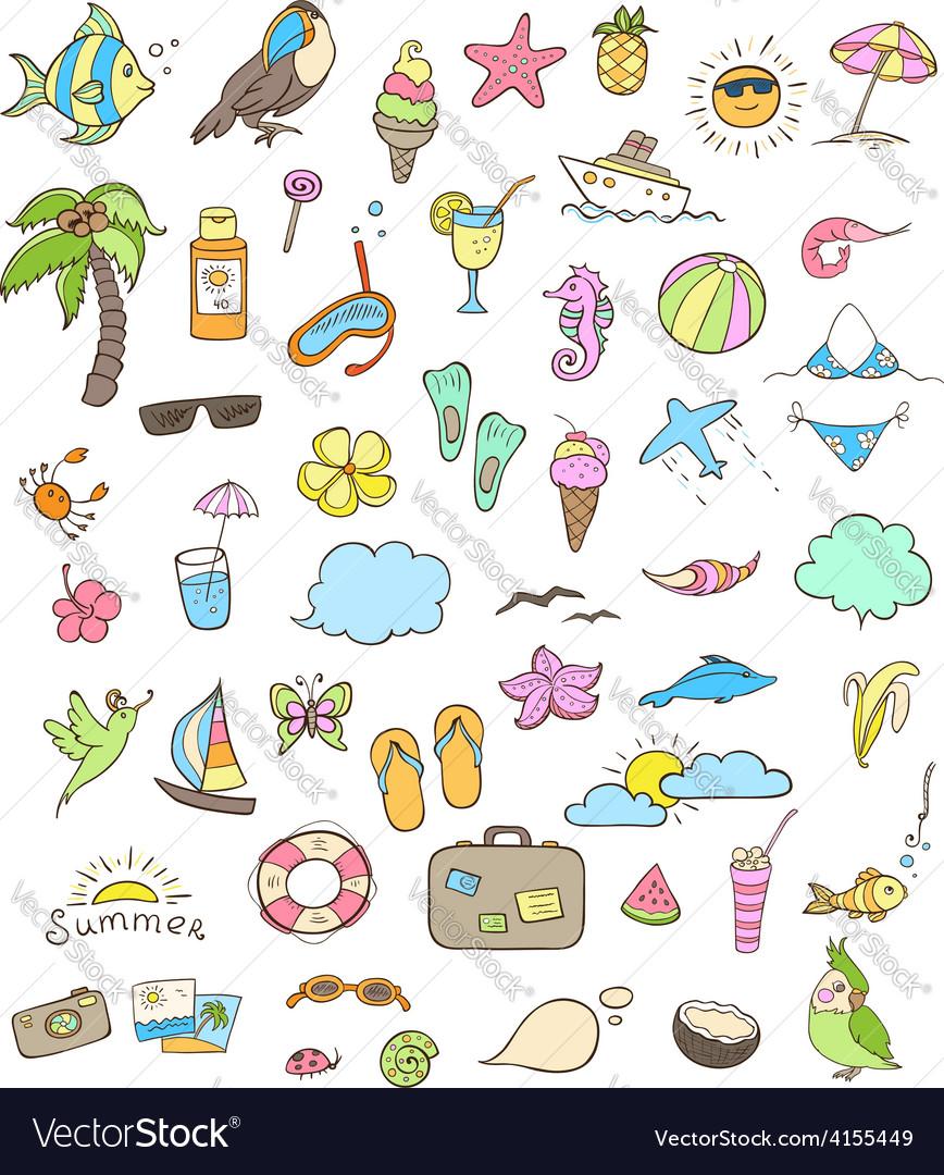 Summer doodles vector | Price: 1 Credit (USD $1)