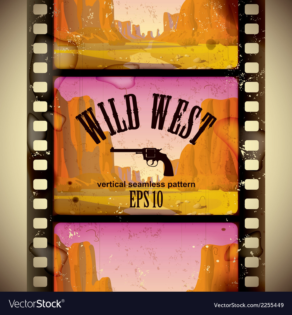 Western film strip vector | Price: 1 Credit (USD $1)
