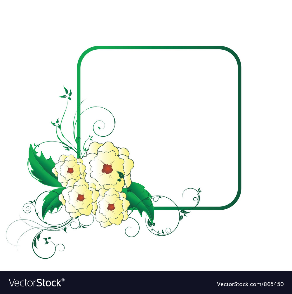Abstract floral frame vector | Price: 1 Credit (USD $1)