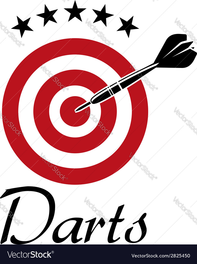 Darts sporting emblem vector | Price: 1 Credit (USD $1)