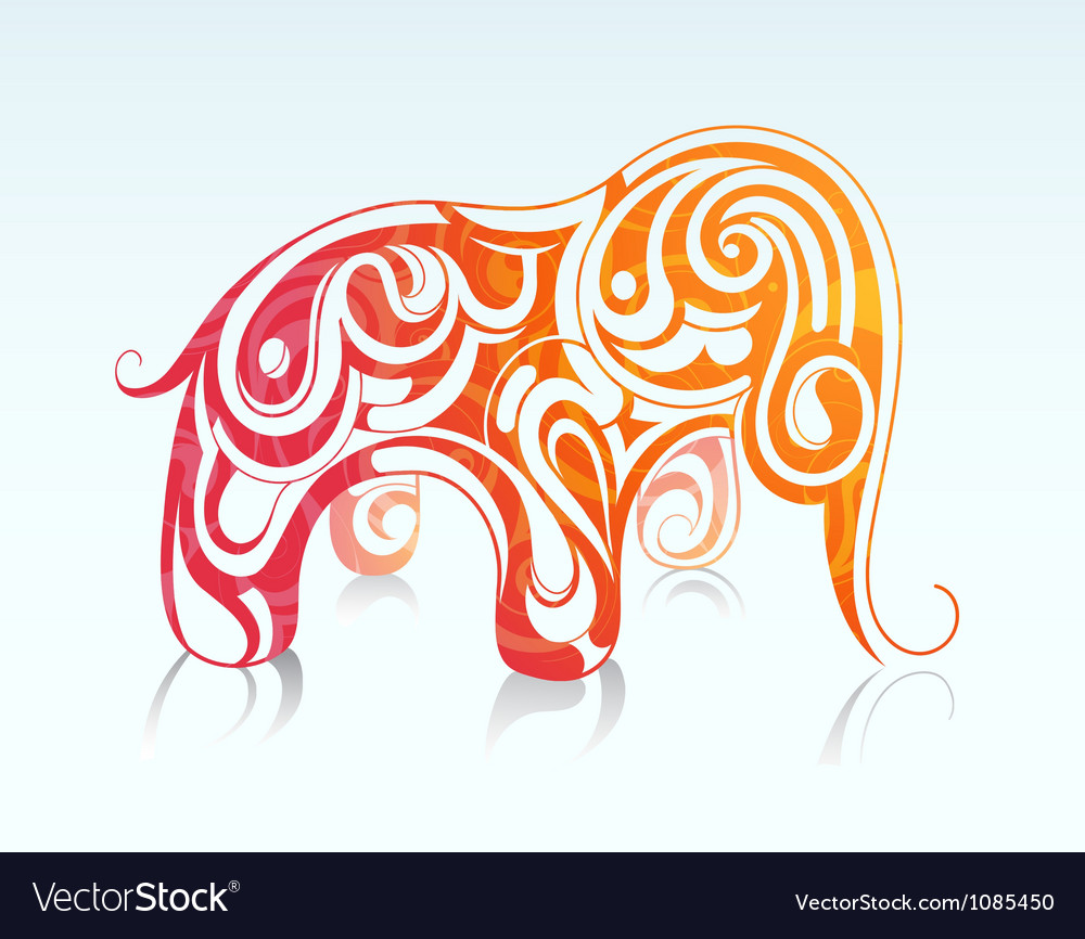 Elephant drawing vector | Price: 1 Credit (USD $1)