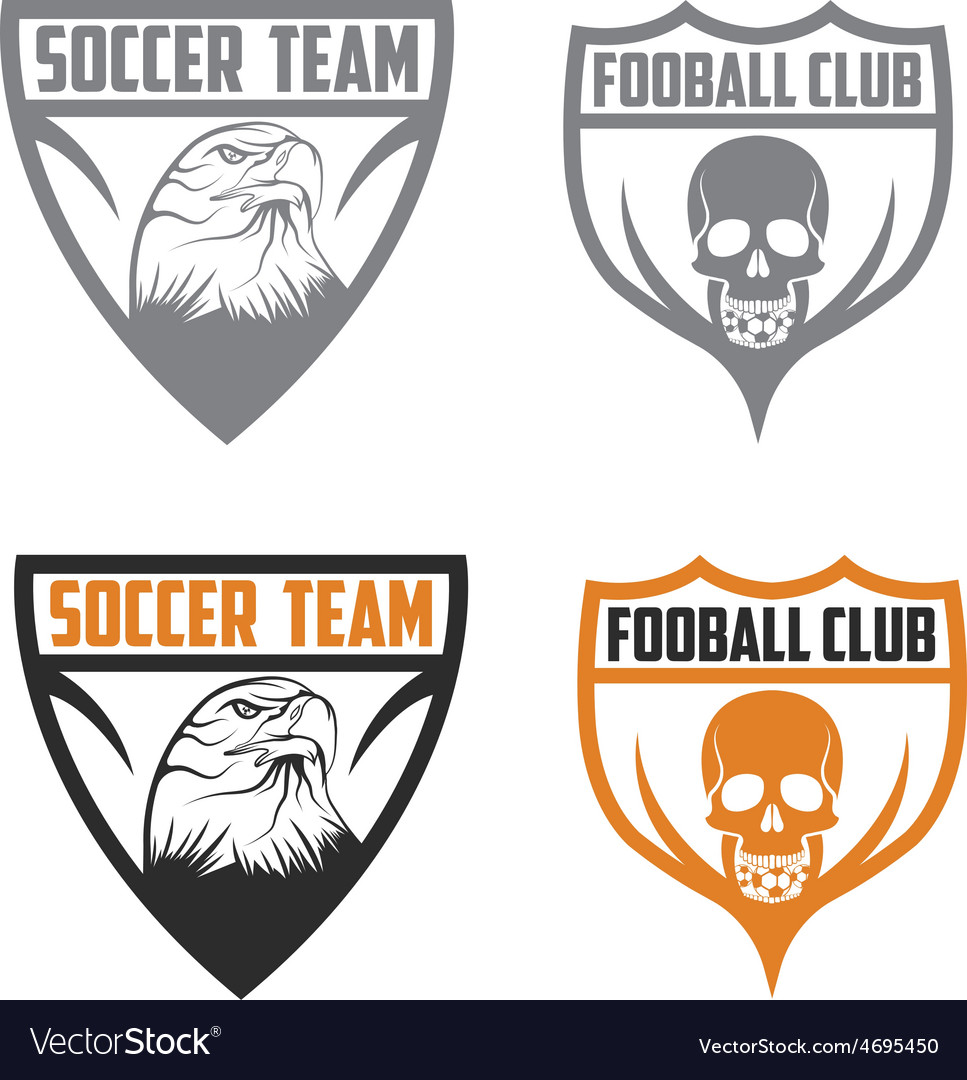 Football team crests set with eagle and skull vector | Price: 1 Credit (USD $1)