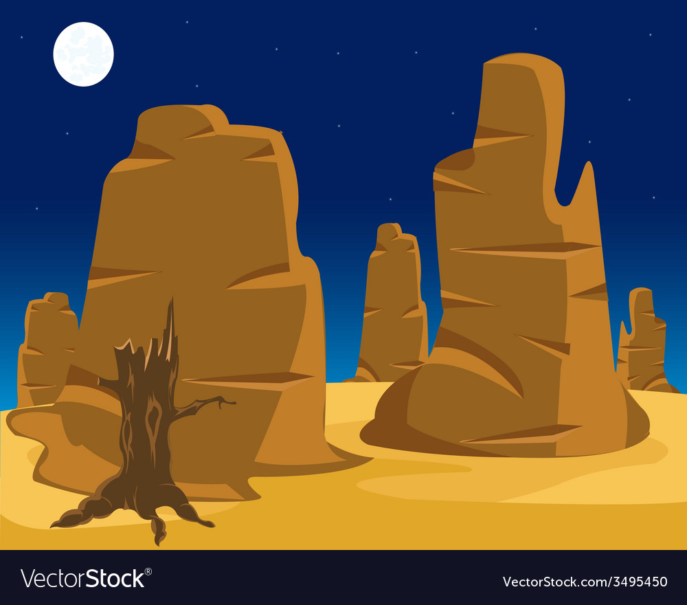 Landscape of wild west vector | Price: 1 Credit (USD $1)