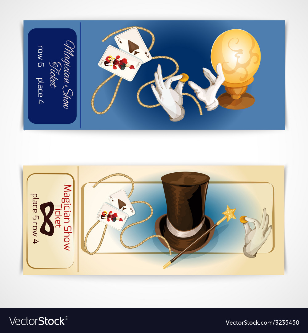 Magician show tickets vector   Price: 1 Credit (USD $1)