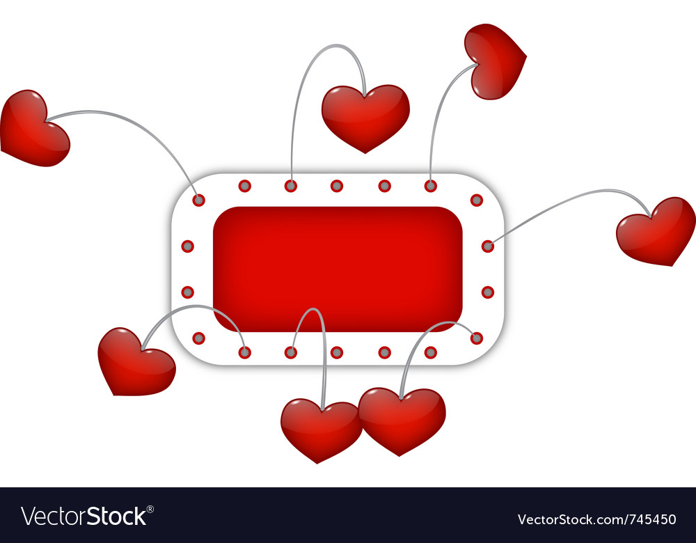 Red frame with hearts vector | Price: 1 Credit (USD $1)