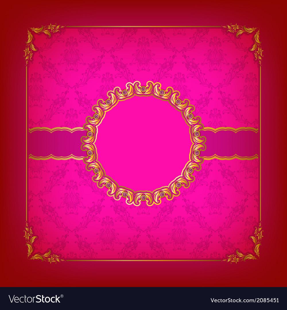 Elegant template for vip luxury invitation vector   Price: 1 Credit (USD $1)
