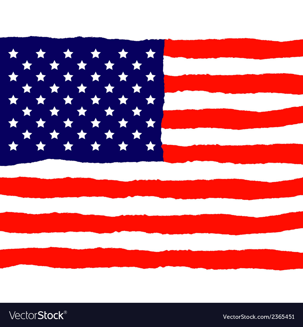 Grunge american flag for independence day vector | Price: 1 Credit (USD $1)