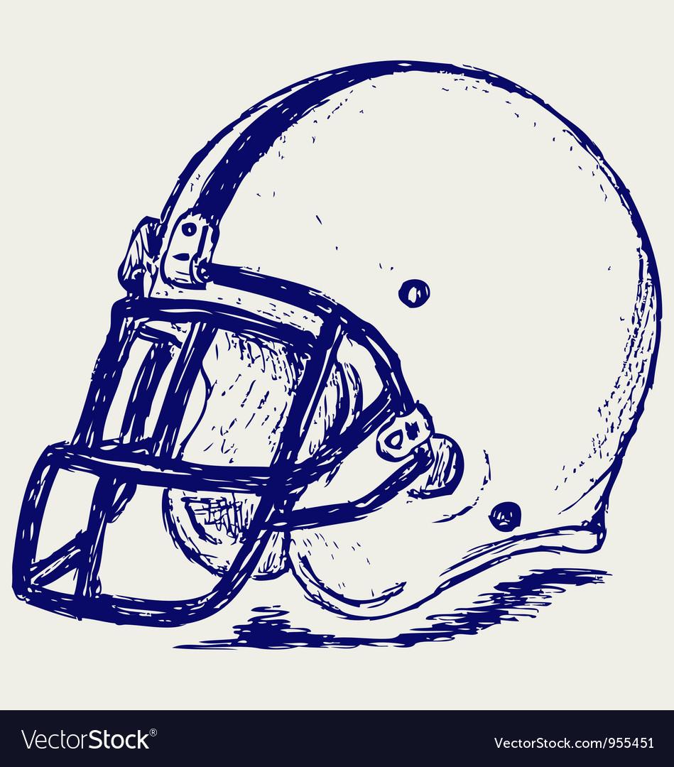 Helmet football vector | Price: 1 Credit (USD $1)