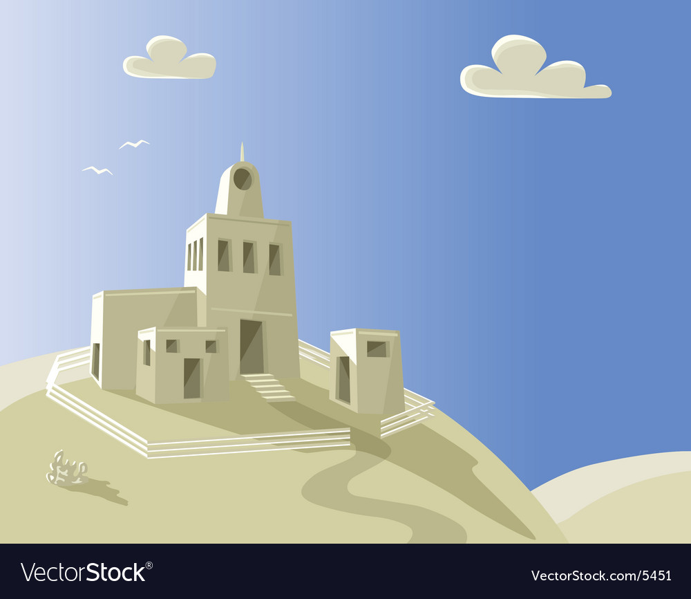Hill house vector | Price: 3 Credit (USD $3)