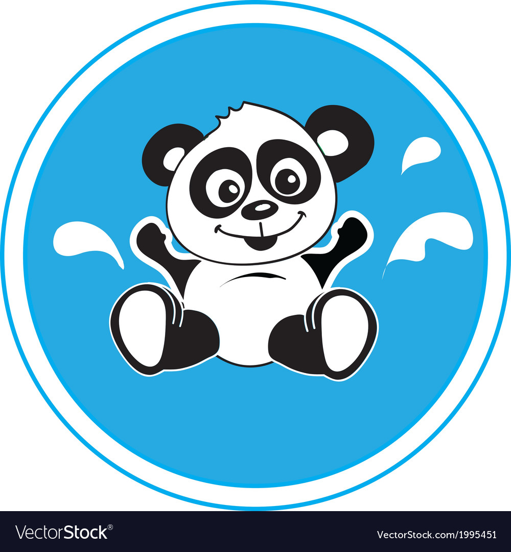 Panda bathing vector | Price: 1 Credit (USD $1)