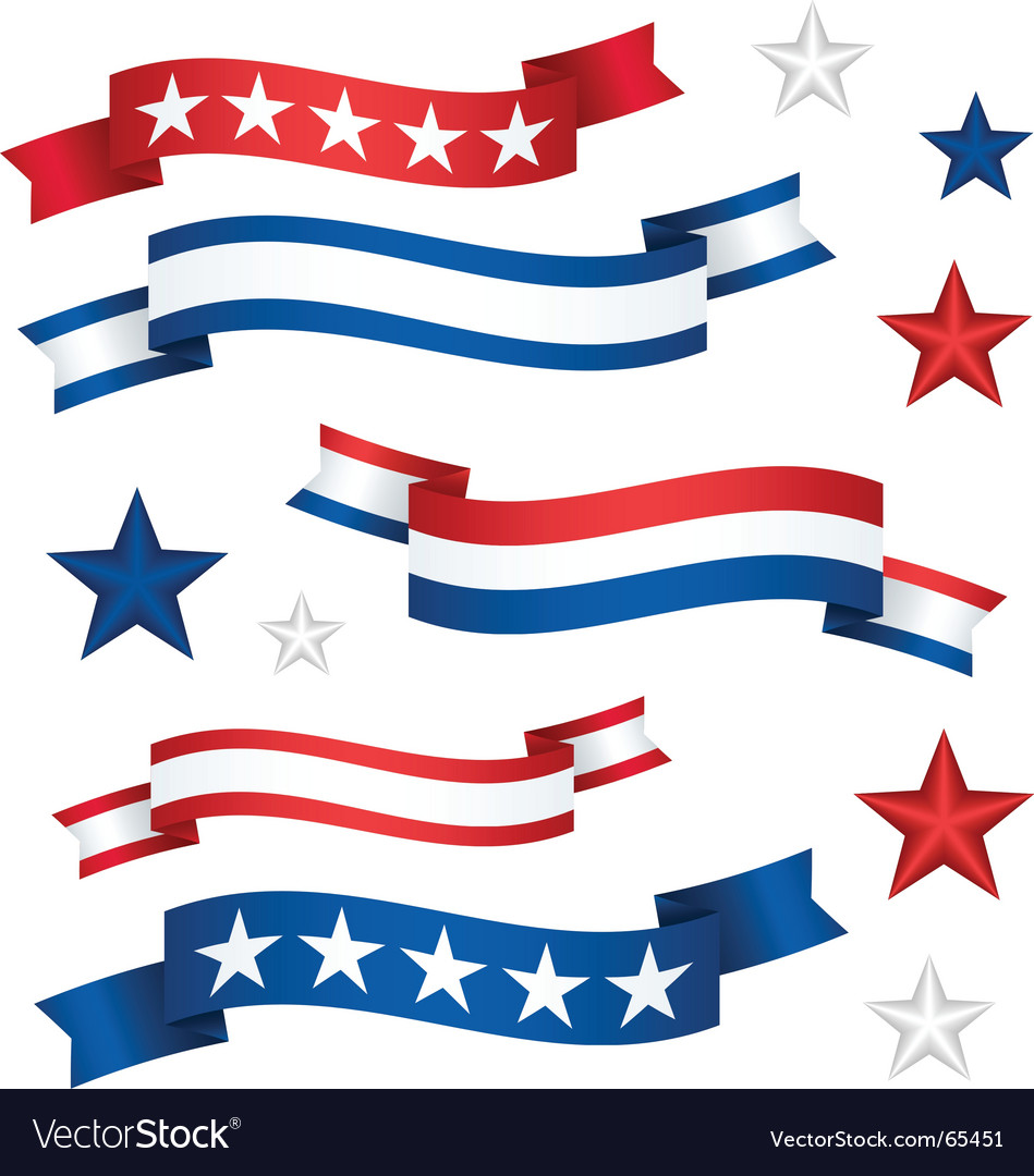 Patriotic banners vector | Price: 1 Credit (USD $1)
