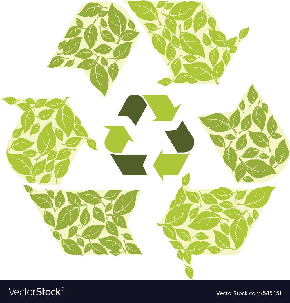 Recycling symbol vector | Price: 1 Credit (USD $1)