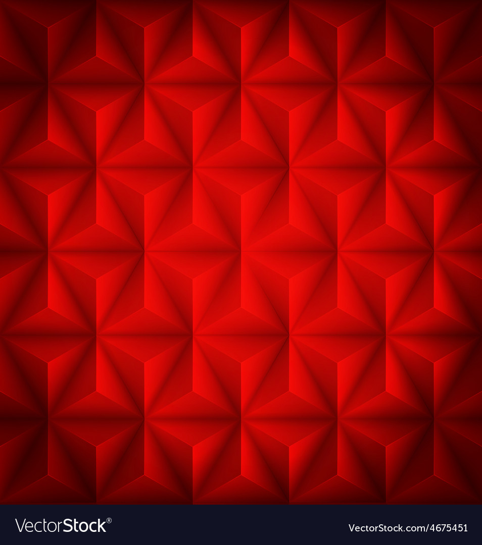 Red geometric abstract low-poly paper background vector | Price: 1 Credit (USD $1)