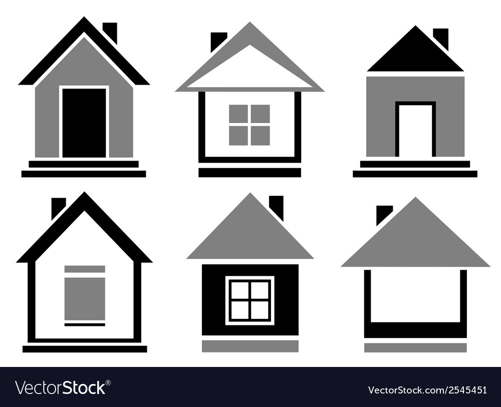 Set cottage icons vector | Price: 1 Credit (USD $1)